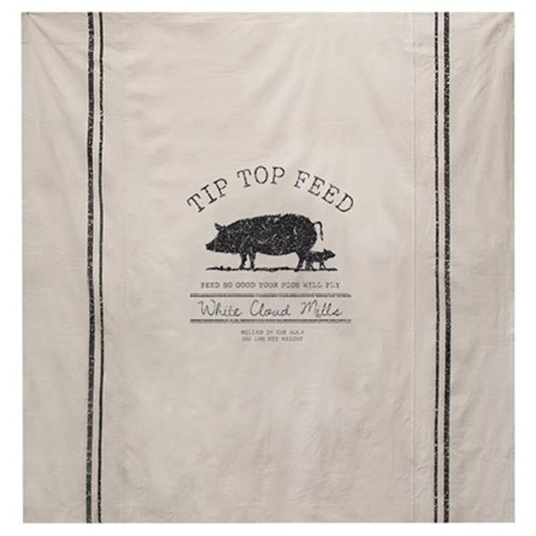 Tip Top Feed Farmhouse Shower Curtain G28079 By CWI Gifts