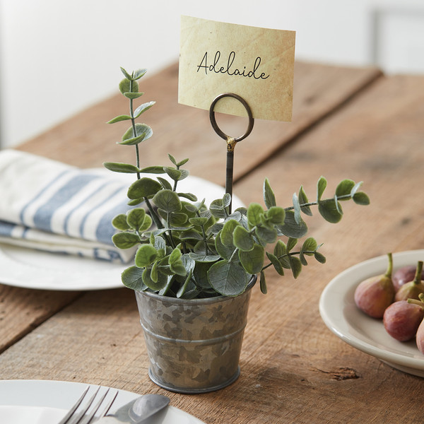 CTW Home Metal Pail Place Card Holder - Box Of 4 370404