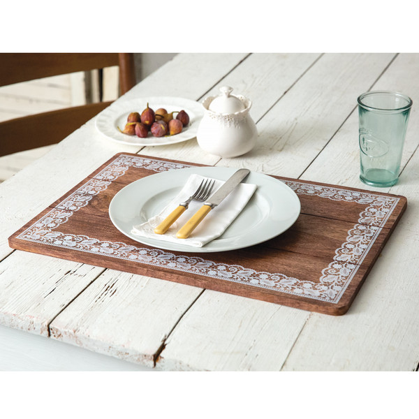 CTW Home Doily Framed Wooden Placemat 370467