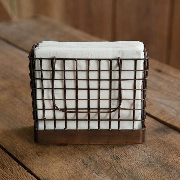 CTW Home Antique Copper Wire Napkin Holder 370506
