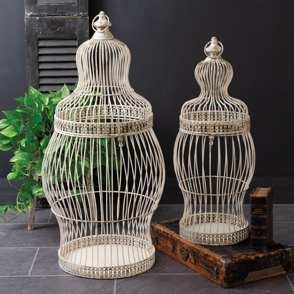 CTW Home Set Of Two Iron Victorian Birdcages 400195