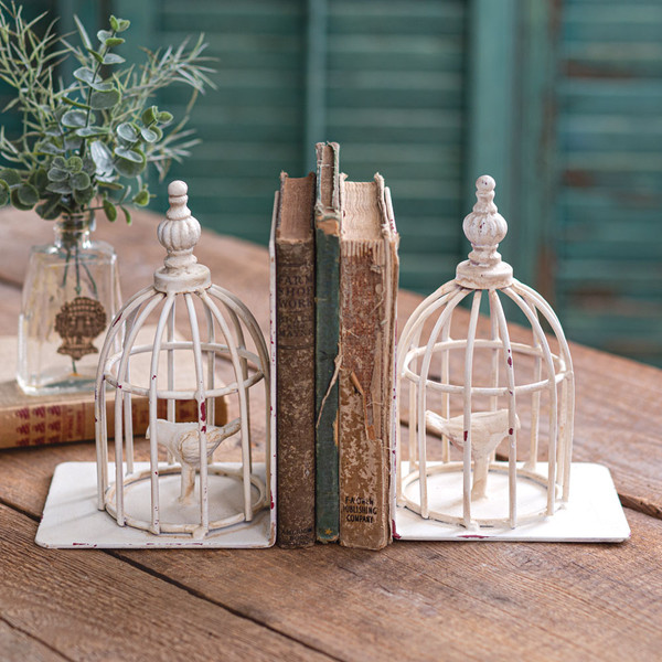 CTW Home Birdcage Bookends 420198