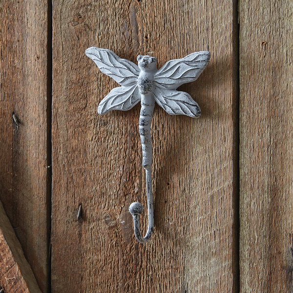 CTW Home Cast Iron Dragonfly Wall Hook - Box Of 2 420203