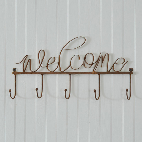 CTW Home Copper Finish Welcome Hook Rack 770424