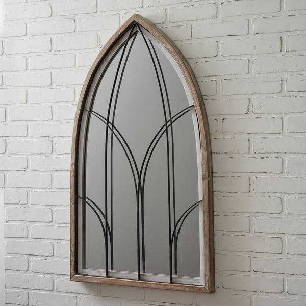 CTW Home Arched Mirror With Wood Frame 770449