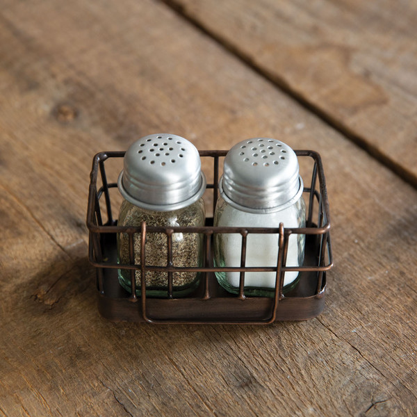 CTW Home Mini Salt And Pepper Wire Caddy 860407
