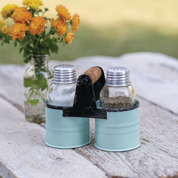 CTW Home Salt And Pepper Can Caddy - Seafoam - Box Of 2 860411