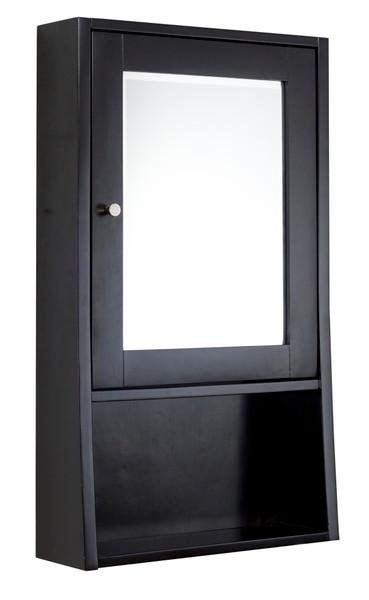 "20"" W 34"" H Transitional Birch Wood-Veneer Medicine Cabinet In Espresso AI-27832"