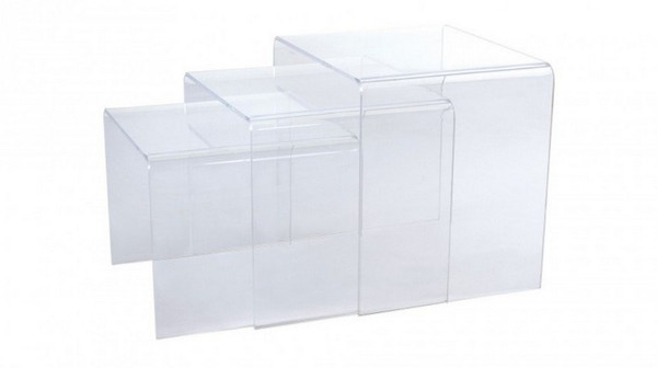 Calice Clear Nesting Table - AHU-CTT-CLR-23 by At Home USA