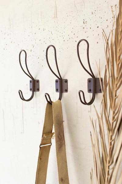 Box Of 24 Rustic Metal Coat Hooks With Screws CQ7576 By Kalalou