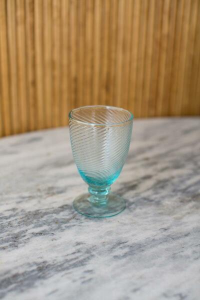 Recycled Water Glass - Artisan Swirl (Pack Of 6) CRL6040 By Kalalou