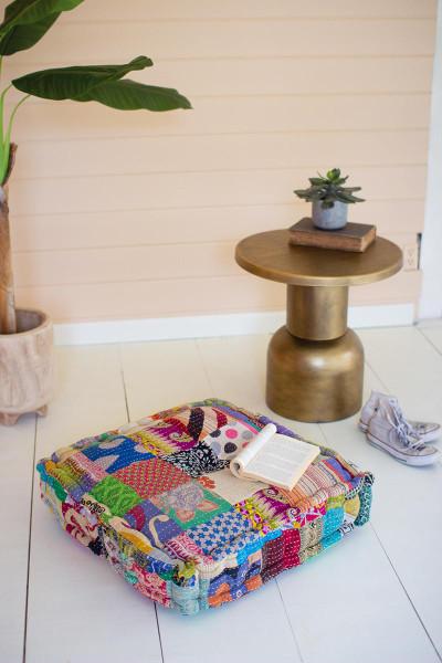 Square Kantha Floor Cushion - 24X24 NRV2226 By Kalalou