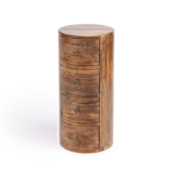 Butler Liam Light Brown Wood End Table with Storage 1176312