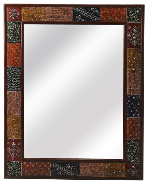 """Butler Meadow Rectangular Hand Painted Wall Mirror 3486290 """"Special"""""""
