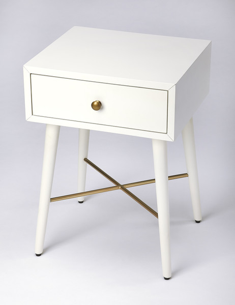 Butler Delridge White & Gold End Table 3791288