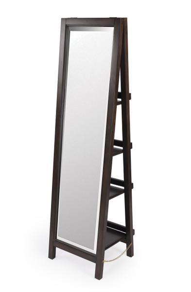 """Butler Adela Dark Brown Mirror with Shelves  5465403 """"Special"""""""