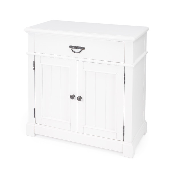 Butler Alek White Solid Wood Chest with Storage 5467304