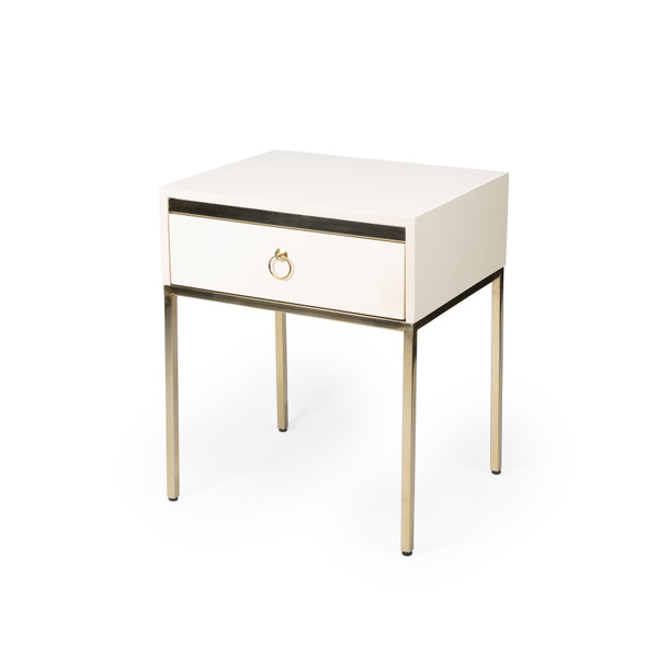 Butler Monika White& Gold End Table 5504222