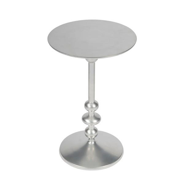 Butler Zora Silver Iron Pedestal End Table 9340220