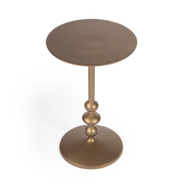 Butler Zora Bronze Iron Pedestal End Table 9340392