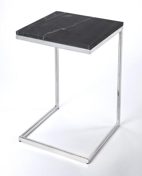 Butler Lawler Black Stone, Silver End Table 9349414