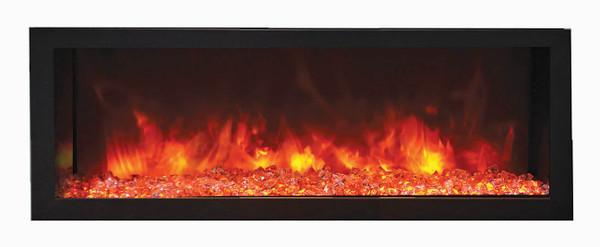 """102745-DE 45"""" Deep Indoor Or Outdoor Electric Built-In Only With Black Steel Surround"""