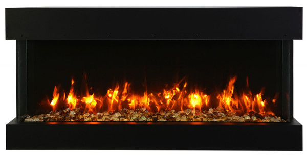 "40-TRV-slim 40"" Unit - 10 5/8"" In Depth 3 Sided Glass Fireplace"