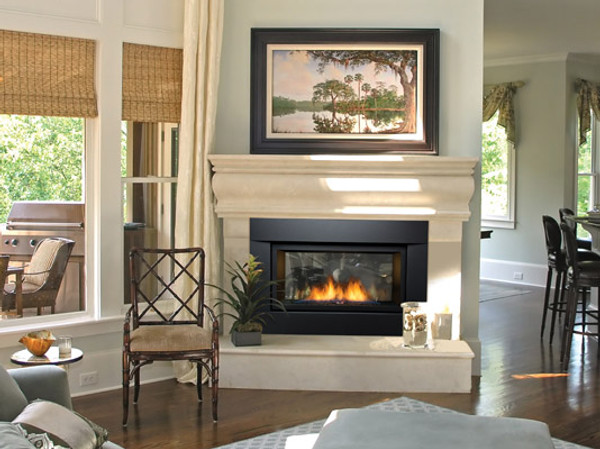 """PALISADE-36-DELUXE-NG 36"""" Natural Gas Deluxe See-Thru Direct Vent Linear Fireplace"""