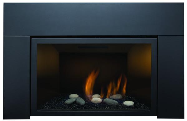 "ABBOT-30BL-DELUXE-LP 30"" Liquid Propane Deluxe Direct Vent Insert W/ Ceramic Brick Panels & Log Set"