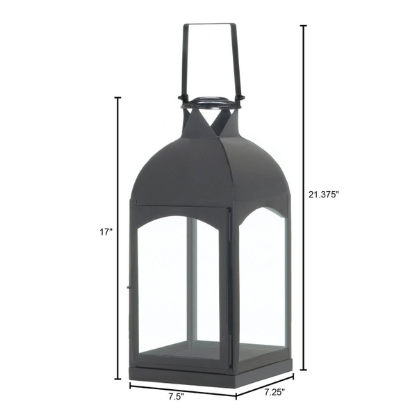 Large Domed Black Candle Lantern 10017656 By Zingz & Thingz