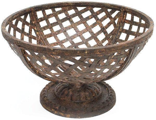 Aidan Gray Rust Basket On Pedestal G39 ( Pack of 2 ) 'STRESS FREE'