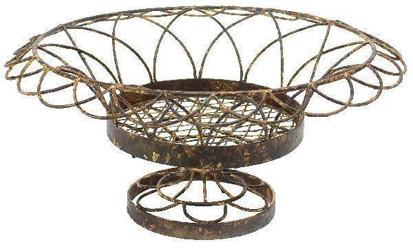 Aidan Gray Rust Small Round Petal Basket G66 ( Pack of 4 )