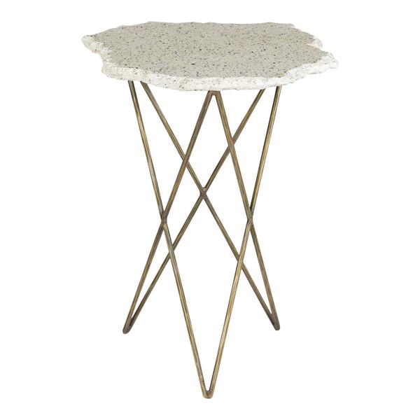Moes Home Positano Terrazzo Side Table QJ-1016-18
