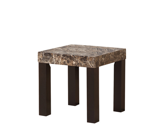 """Ore International TS-511 21.5"""" In Dark Marnee Faux Marbelized Granite Side End Table"""