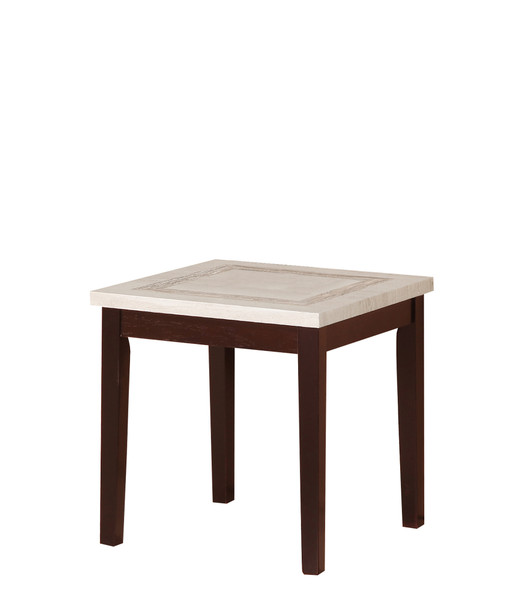 """Ore International TS-611 29.5"""" In Ivory Knox Faux Marbelized Granite End Table"""