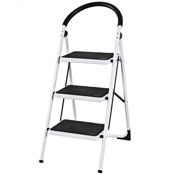 TL35310 Heavy Duty Industrial Lightweight Folding Stool 3 Step Ladder