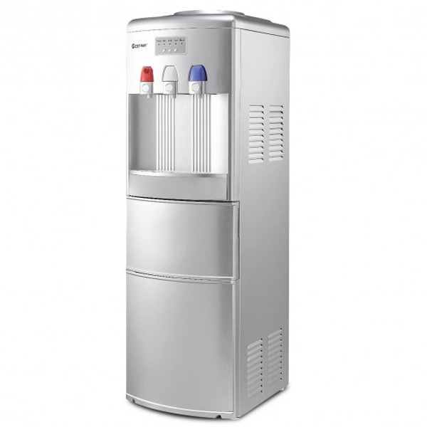 EP23573SL Top Loading Water Dispenser With Built-In Ice Maker Machine-Silver