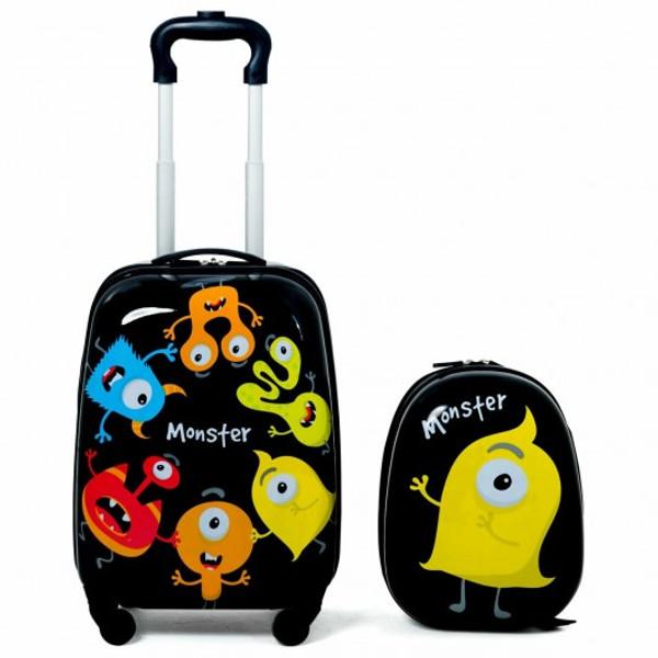 "BG51212 2 Piece Kids Luggage Set 12"" Backpack & 16"" Rolling Suitcase"