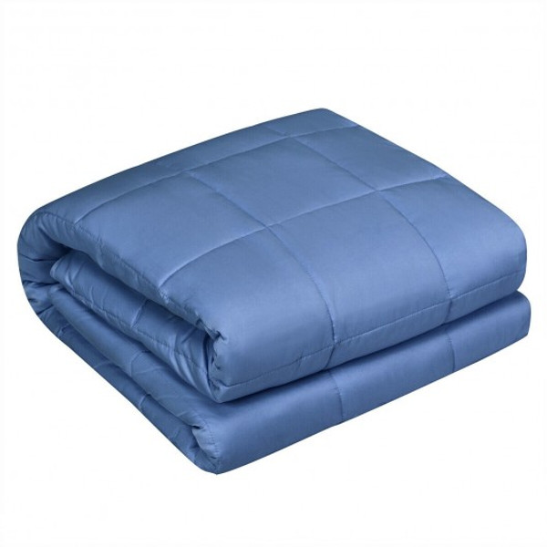"""HT1018BL 15 Lbs 48"""" X 72"""" Premium Cooling Heavy Weighted Blanket-Blue"""