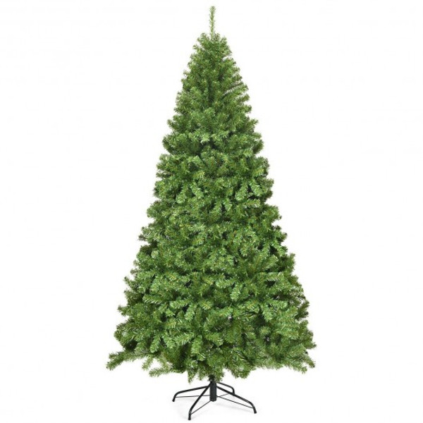 CM22733 7.5Ft Unlit Hinged Pvc Artificial Christmas Tree