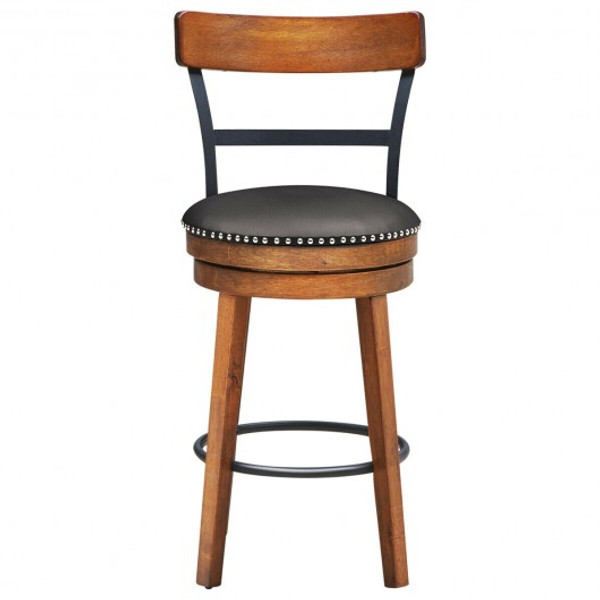 HW65272 360-Degree Swivel Stools With Leather Padded Seat