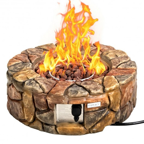 OP3610CF 28'' Propane Gas Fire Pit Outdoor 40 000 Btu Stone-Brown