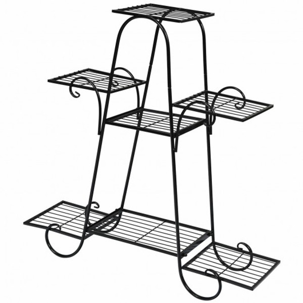 GT3531 7 Tier Metal Patio Plant Stand