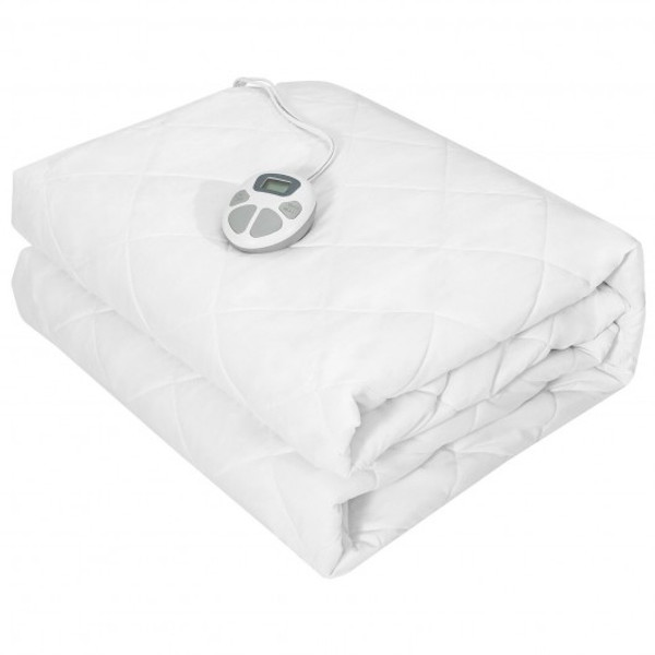 EP24932US-Q Auto Shut Off Heated Electric Mattress Pad With Dual Controller-Queen Size