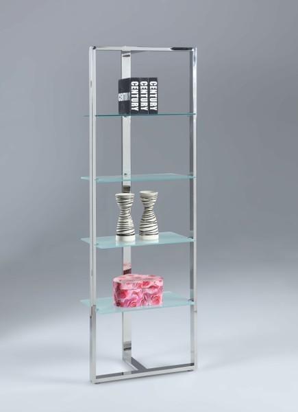 4 Glass Shelf-Tempered Bookcase 74103-BKS-S