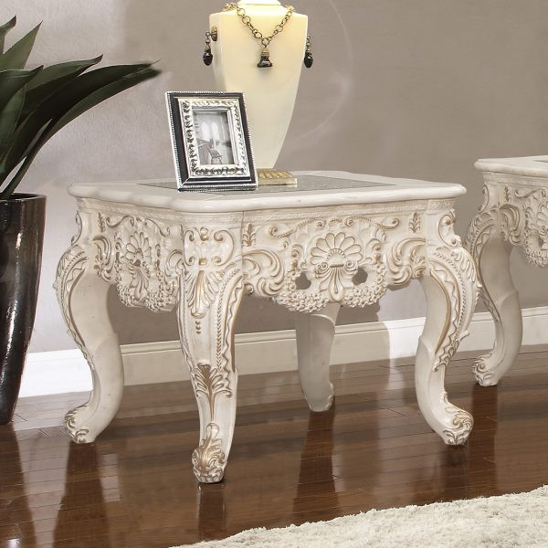 Homey Design Victorian End Table HD-998 IV-END