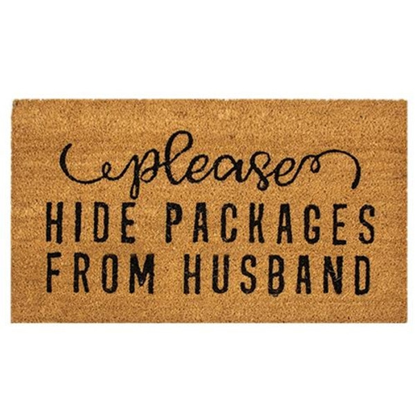 Please Hide Packages Door Mat 30X18 G200007 By CWI Gifts