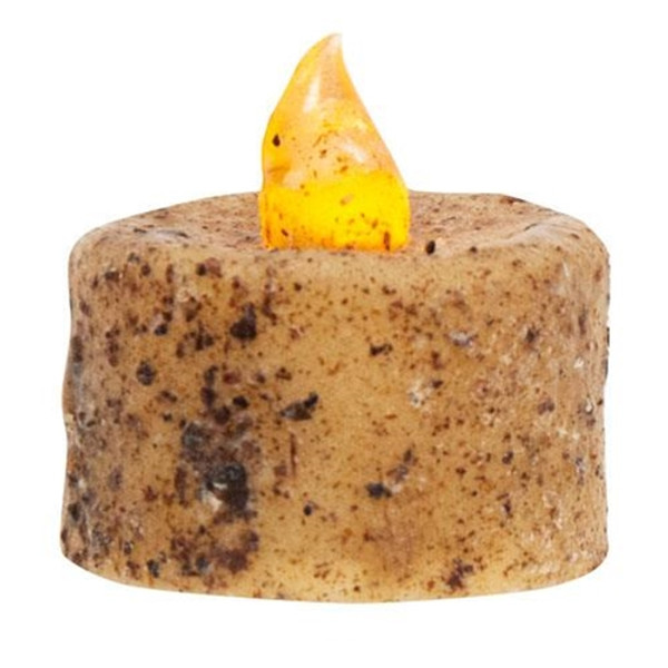 (Pack Of 6) Burnt Ivory Led Tealights G84812 By CWI Gifts