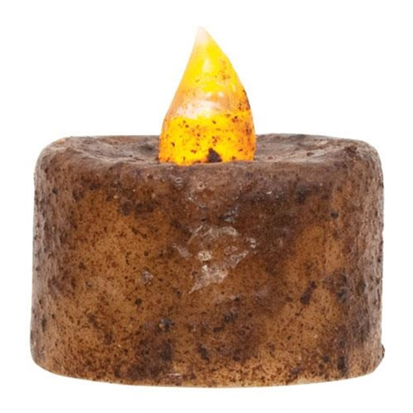 (Pack Of 6) Burnt Mustard Led Tealights G84818 By CWI Gifts