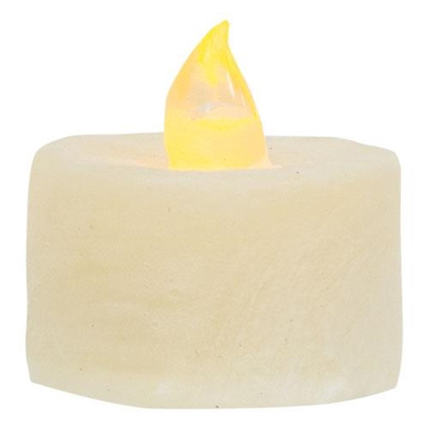 (Pack Of 6) Ivory Led Tealights G84819 By CWI Gifts